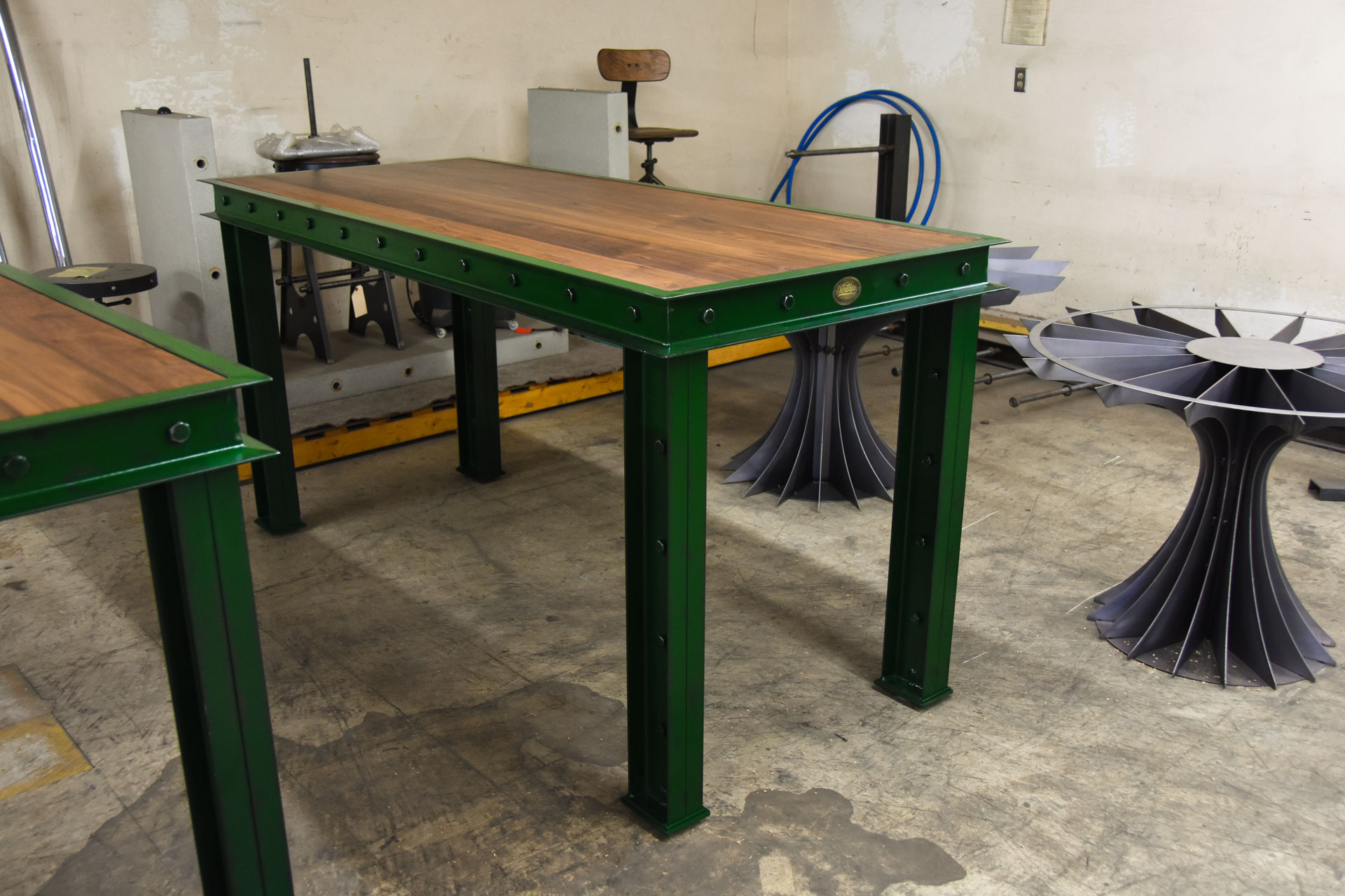 Green Firehouse Bar Tables Model Fh11 Vintage