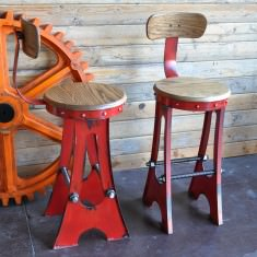 Red A Frame chairs