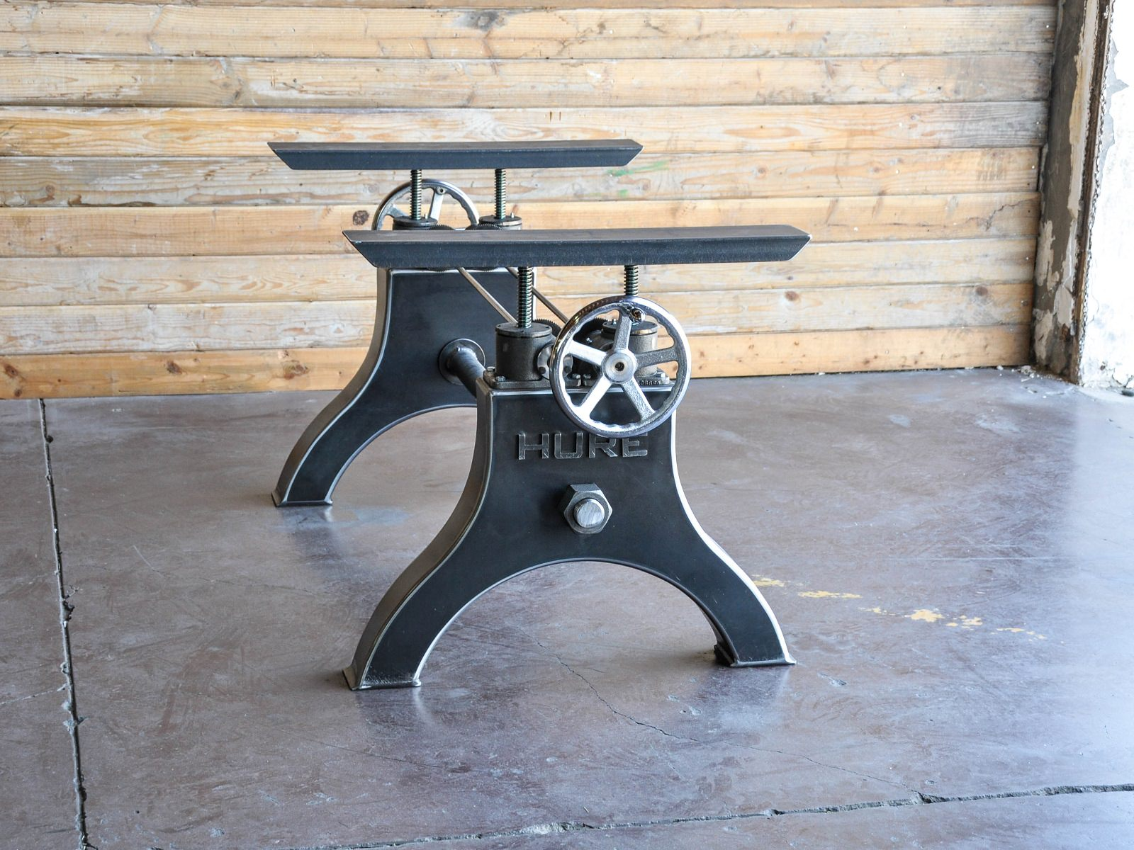 hure crank table base vintage industrial furniture. Black Bedroom Furniture Sets. Home Design Ideas