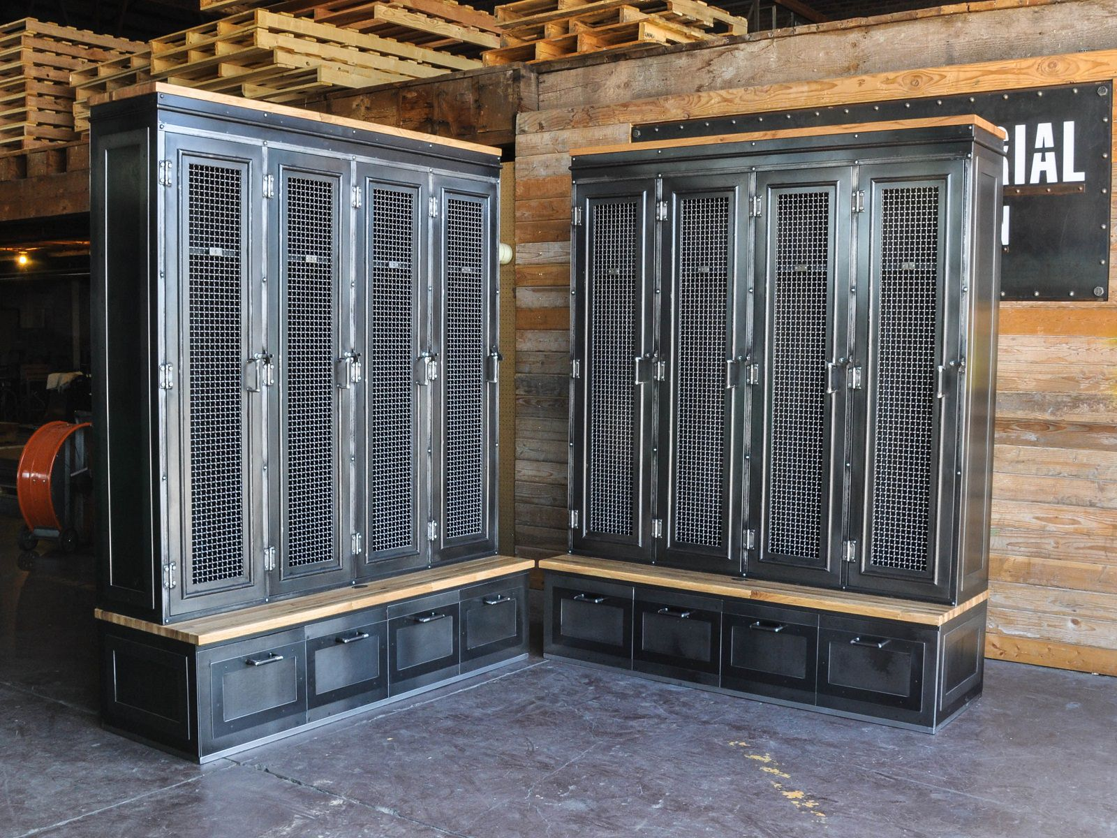 Mudroom lockers with doors - Mudroom Locker Pair