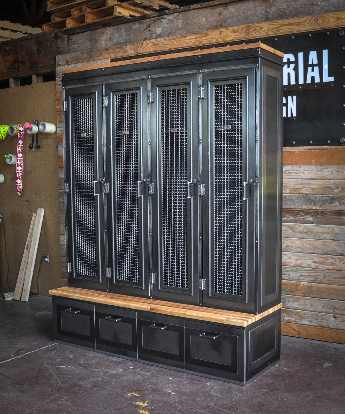 Country Club Locker Vintage Industrial Furniture